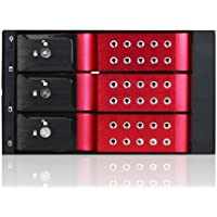 iStarUSA BPN-DE230SS-RED Red Color 2x5.25 to 3x3.5 SAS/SATA Trayless Hot-Swap Cage