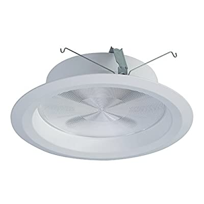 """HALO Commercial PR8M34WDMW PR8 LED 8"""" Integrated LED Recessed Trim Module Wide Distribution 3000/4000 lms, White"""