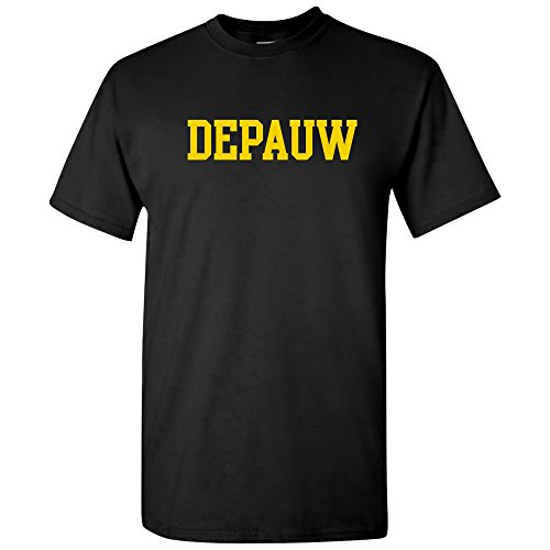 AS01 - DePauw Tigers Basic Block T-Shirt - Large - Black
