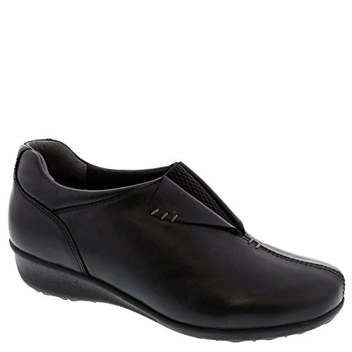 Leather Depth Black Naples Leather Shoe On Women's Shoe Extra Therapeutic Diabetic Drew Slip w8BYqxPC