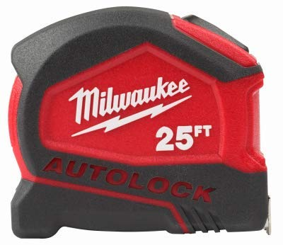 (Milwaukee 48-22-6825 25 Foot Compact Auto Lock Tape Measure)