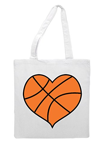 Shopper Tote Sports Heart Shaped White Basketball Bag xC6aq00f
