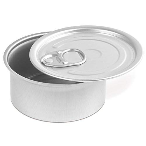Tin Tab - Comatec Round Tin with Pull Tab Lid - 4oz Capacity 100 Pack