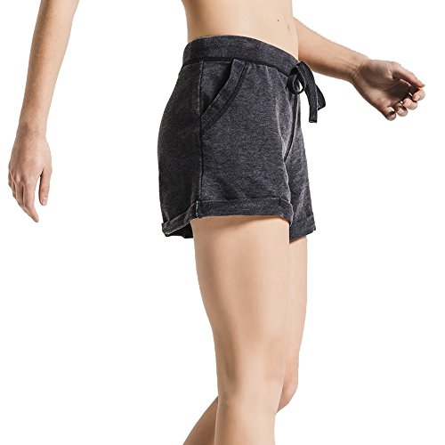 Z SUPPLY Women's The Boyfriend Short Burnout Fabric Relaxed Fit, Black, Small by Z SUPPLY (Image #2)