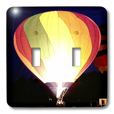 3dRose LLC lsp_622_2 Colorful Air Balloon, Double Toggle Switch