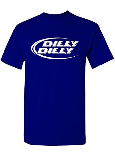 Manateez Men's Budlight Dilly Dilly Commercial Tee Shirt XXL Royal