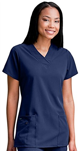 classic-fit-collection-by-jockey-scrubs-womens-tri-blend-solid-scrub-top-large-new-navy