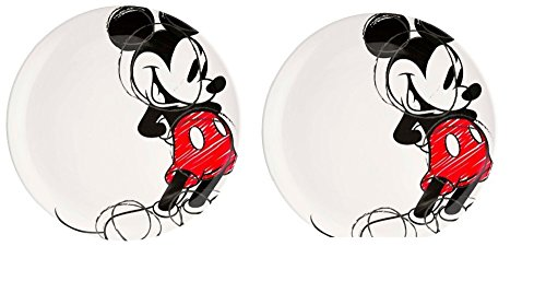 "Kids 10"" Dinner Plates ~ set of 2 (Mickey Mouse)"