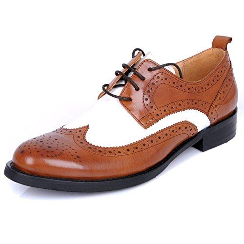 Scarpe Classiche da Uomo in Pelle Fatte A Mano Scarpe da Sposa in Pelle con Cuciture in Suola Oxford Fashion Lace-up Brown