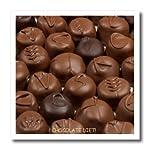 3dRose HT_6012_3 trufas de Chocolate para Dieta, Transferencia de Calor para Plancha para Material Blanco, 10 x 10 Pulgadas