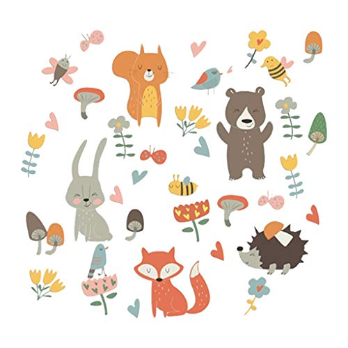 Cute Animal Sticker,Lovewe Mobile Creative Wall Affixed With Decorative Wall Window Decoration For Kids Bedroom 30 x 45 cm