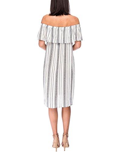 Shoulder Stripe Off Sand Striped Rosie Dress Z7q0Bp