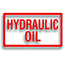 Barrel, Drum or Pump Decal Label - HYDRAULIC OIL Sticker for Car Truck Service Work Shop Garage 6 1/2 x 12 1/4 inch in RED