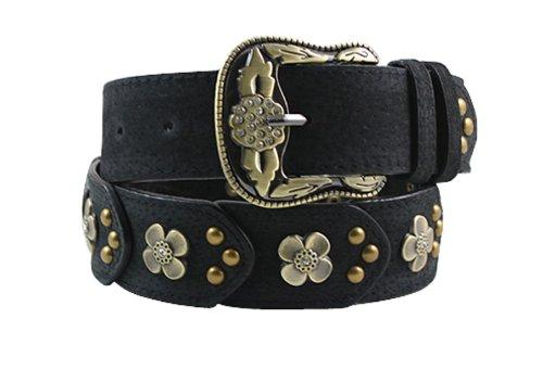 Vintage Designer Belts (Herebuy - Vintage Leather Belts for Women Western Cowgirl Rhinestone Belts)