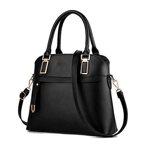 Handbag Ladies Zhi Black Wu Messenger Bolsos Pu Cómodo Wild Bag 5OwT66Xq