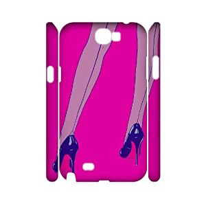 Clzpg 3D Personalized Samsung Galaxy Note2 N7100 Case - High-heeled 3D cover case