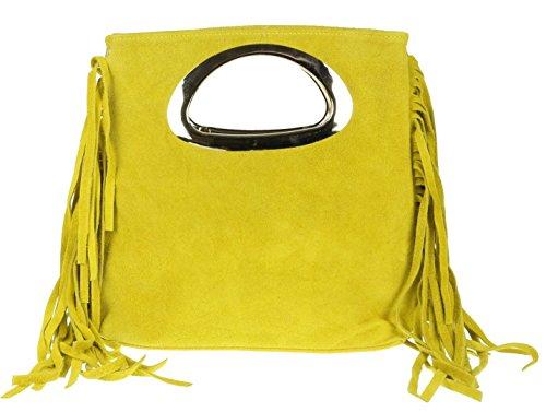 Girly Handbags - Cartera de mano de Material Sintético para mujer amarillo