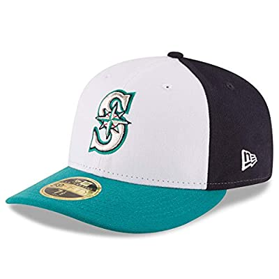 Seattle Mariners Low Profile Tri-Tone Fitted Size 7 5/8 Hat Cap - Team Colors