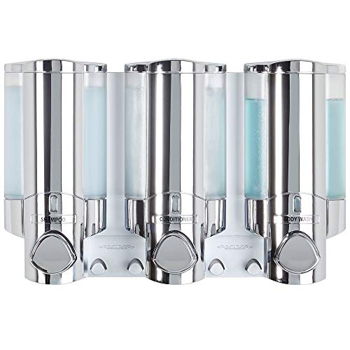 Better Living Products 76345 AVIVA Three Chamber Dispenser, Chrome -
