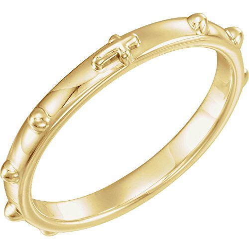 Yellow Gold Rosary Ring - Jewels By Lux 14K Yellow Gold 2.5 mm Rosary Ring Size 6