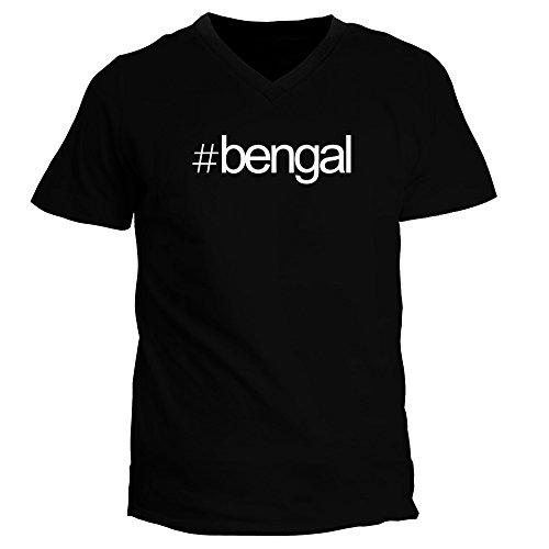 Idakoos - Hashtag Bengal - Cats - V-Neck T-Shirt