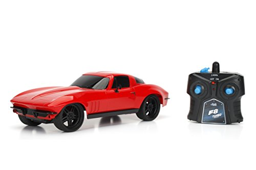 (Jada Toys Fast and Furious Letty's Chevy Corvette RC Toy Vehicle, Red, 1:16)
