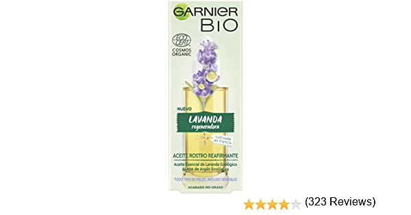 Garnier BIO Aceite Rostro Reafirmante con Aceite Esencial Lavanda ...