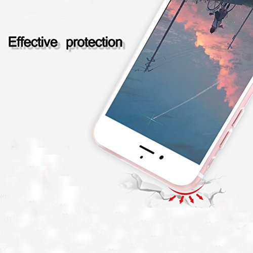 iPhone 6 / 6S Custadio con Vetro Temperato Screen Protector Film, Blossom01 ultra sottile in gel morbido TPU silicone custodia Cute Cartone per iPhone 6 / 6S Green Crocodile Penguin