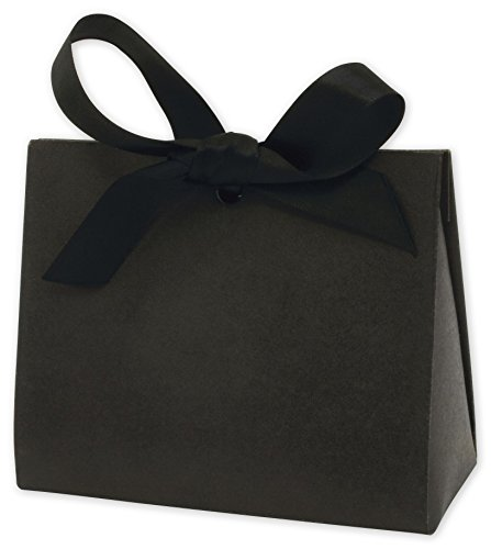 Black Kraft Purse Style Gift Card Holders, 4 1/2x2x3 3/4