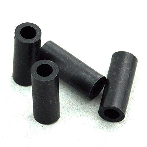 for M4 Screws ID 4.1mm Plastic. OD 7mm Electronics-Salon 100pcs 18mm Black Nylon Round Spacer