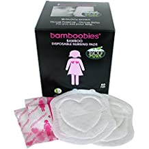 bamboobies Disposable Nursing Pads for Breastfeeding, 60 Breast Pads