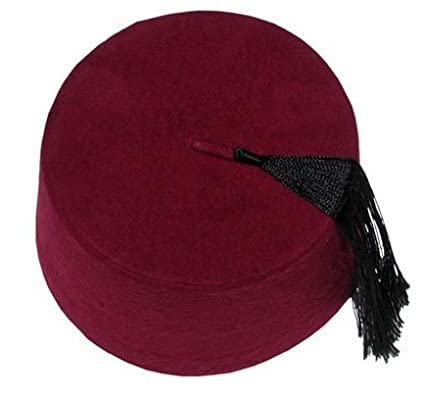 Amazon.com  Authentic Ottoman Turkish Fez Fes Doctor Who Hat Tassel ... c673b86e157