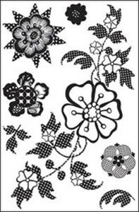 BasicGrey June Bug Clear Stamp-Swiss Floral