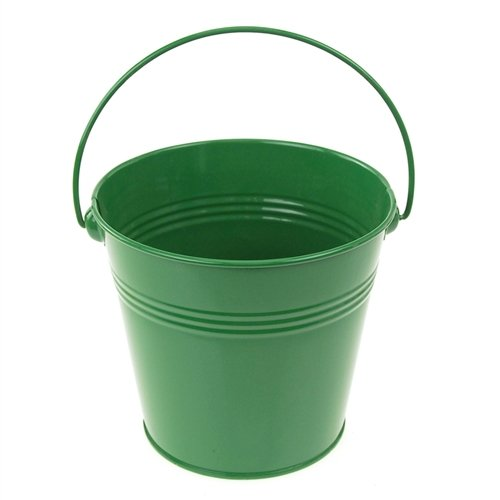 Homeford Firefly Imports Metal Pail Buckets Party Favor, 5-Inch, Green,
