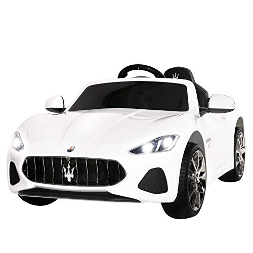 Uenjoy Maserati GranCabrio 12V Electric Kids Ride On Cars Motorized Vehicles with RC Remote Control, Wheels Suspension, MP3 Player, Lights, - Electric Car