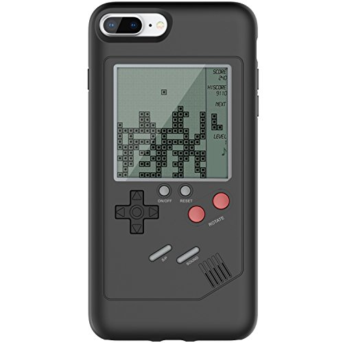 iPhone 7P/8P Game Case Game-Boy Tetris iPhone Case Shell TPU Silicone Protective Cover Retro Gameboy Case for iPhone 7P/8P VORSON, Black(WANLE - Play and Have Fun)