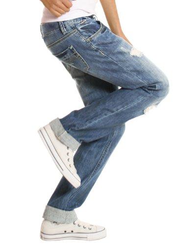 Jeans style Jeans baggy BestyledBerlin 42 XL large coupe basse taille femme boyfriend xOadndqY