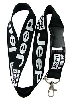 Jeep Lanyard Keychain Holder (Black)
