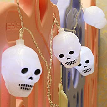 2 White Light Lumière M Halloween 5 Série Mort Design Tête Led De fgy7Yb6v