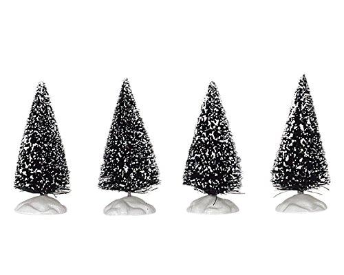 Lemax Village Collection Bristle Tree Set of 4 Mini 2 1/2 inch # 14005