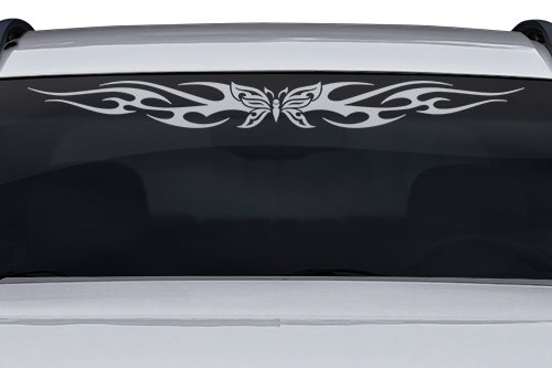 Sticky Creations - Design #116-01 Butterfly Tribal Flame Windshield Decal Sticker Vinyl Graphic Back Rear Window Banner Tailgate Car Truck SUV Van Boat Trailer Wall | 36