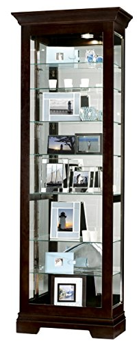 Shelf Cabinet Eight Curio Corner (Howard Miller 680-412 Saloman Curio Cabinet)