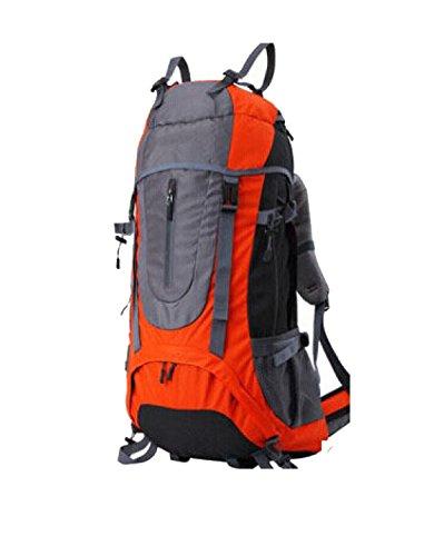 Yy.f Aventura Al Aire Libre Equipo De Camping Viajes Ocio Grandes Hombros 60L Capacidad De Montañismo Bolsas Senderismo Bolsa De Viaje Mochila. 3 Colores Orange