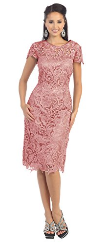 dusty rose color wedding dress - 7