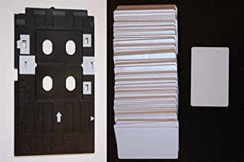 Blank Platinum ID Cards and PVC Tray for R280 and similar PVC ID Card Tray Starter Set