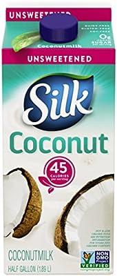 Silk Unsweetened Coconut Milk Nutrition Label - NutritionWalls