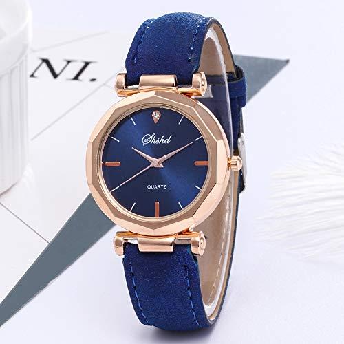 Women Watch Sale Clearance Vintage Matte Faux Leather Rhombus Rhinestones Quartz Soft Wrist Watch by Gaweb (Image #6)