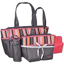 carter 39 s tote diaper bag set pink gray. Black Bedroom Furniture Sets. Home Design Ideas