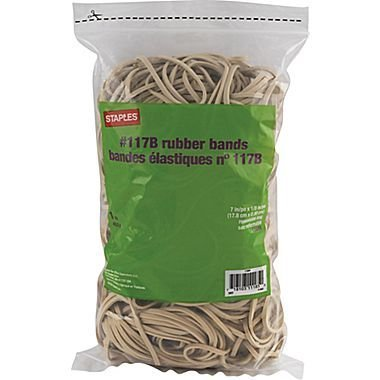 Staples Rubber Bands, Size #117B, (1 Lb)