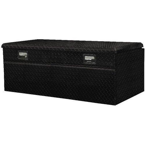 Lund 79447 48-Inch Aluminum Flush Mount Single Lid Truck Tool Box, Diamond Plated, Black